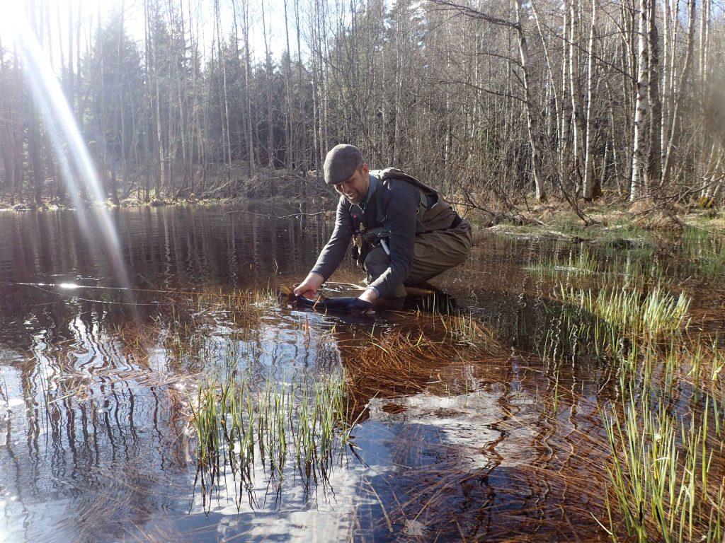 Johan med sin våröring Foto: Niklas Dahlin